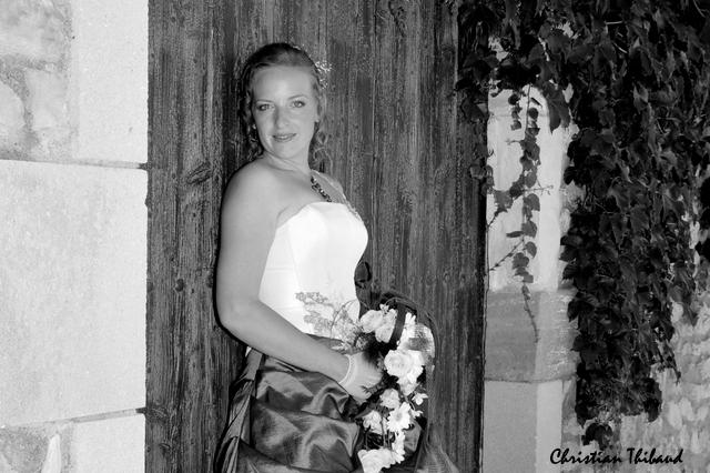 Mariée en noir & blanc
